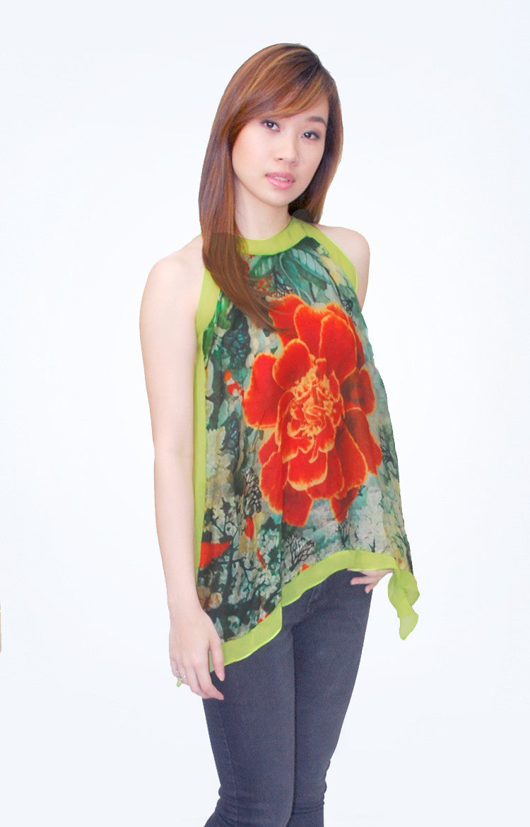 Mia Arcenas Sleeveless Printed Top