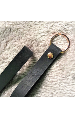 Basic Black Key Holder in Rosegold