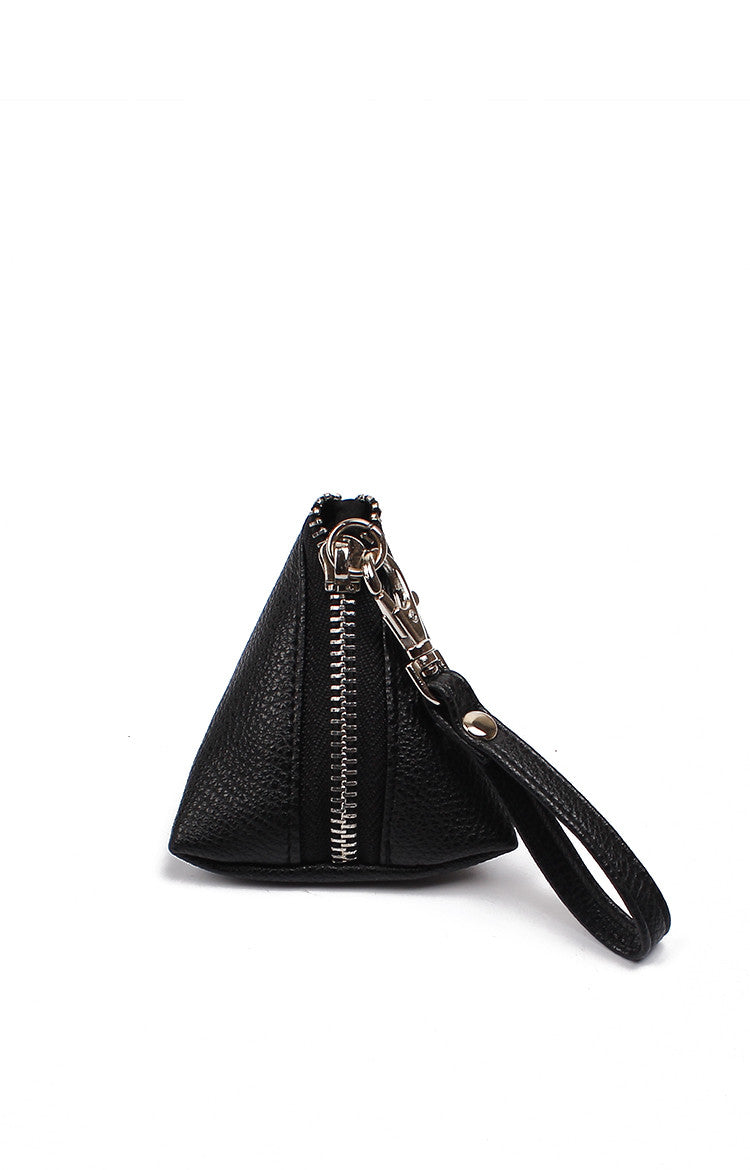 Minimal Manila Triside Coin Purse - Black