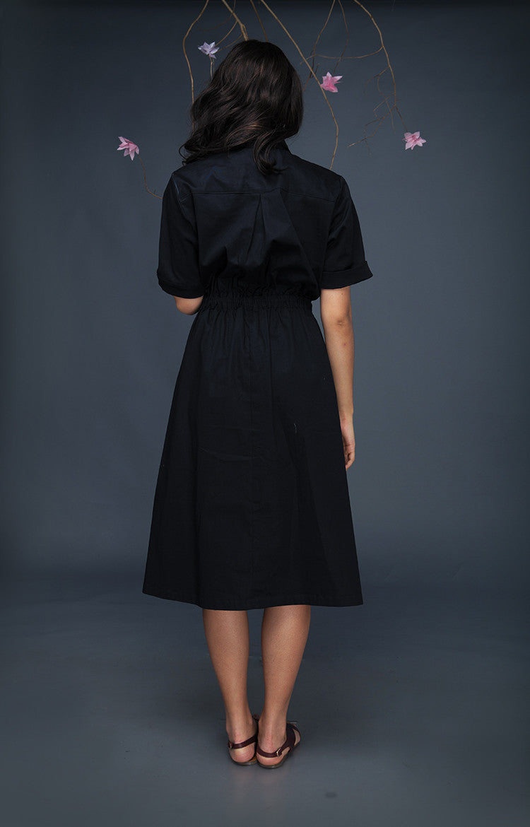 SOS Dress-Navy Blue