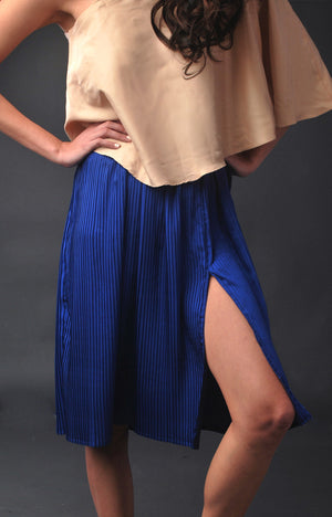 Holiday Party Skirt- Cobalt