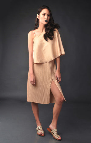 Holiday Party Skirt- Gold