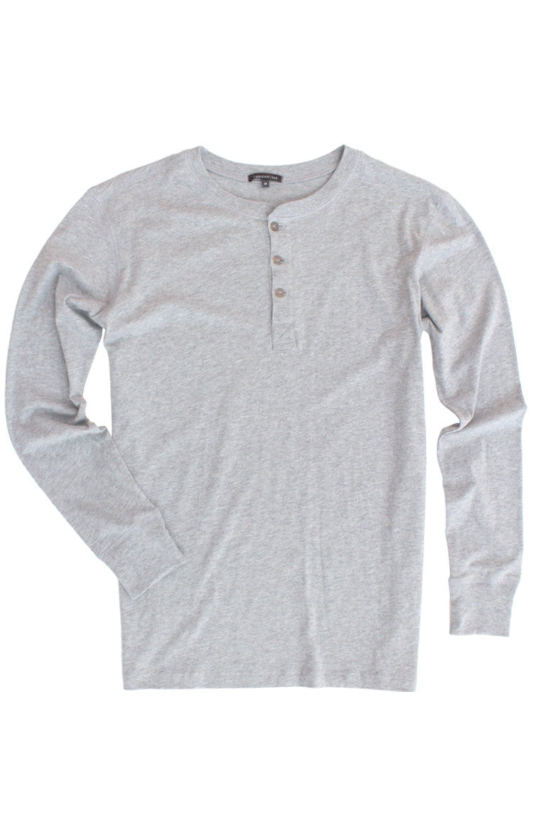 Thread 365 Men's L/S Henley - Heather Grey
