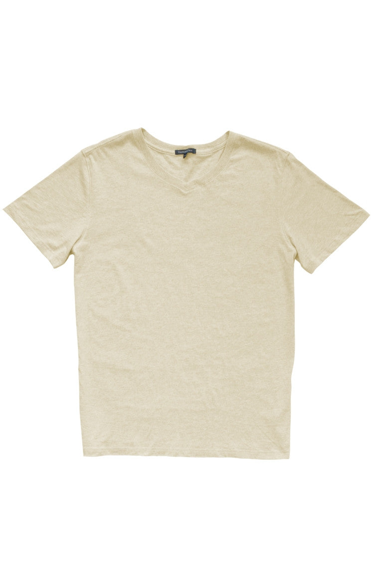 Thread 365 Men's S/S V-Neck Tee - Heather Oatmeal