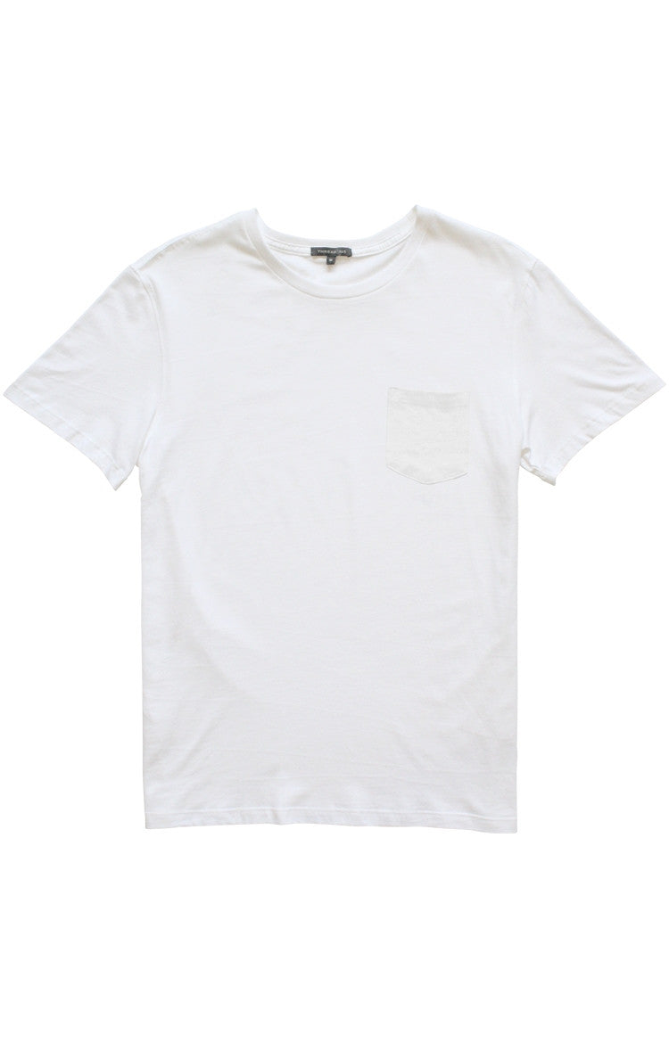 Thread 365 Men's S/S Pocket Crewneck Tee - White