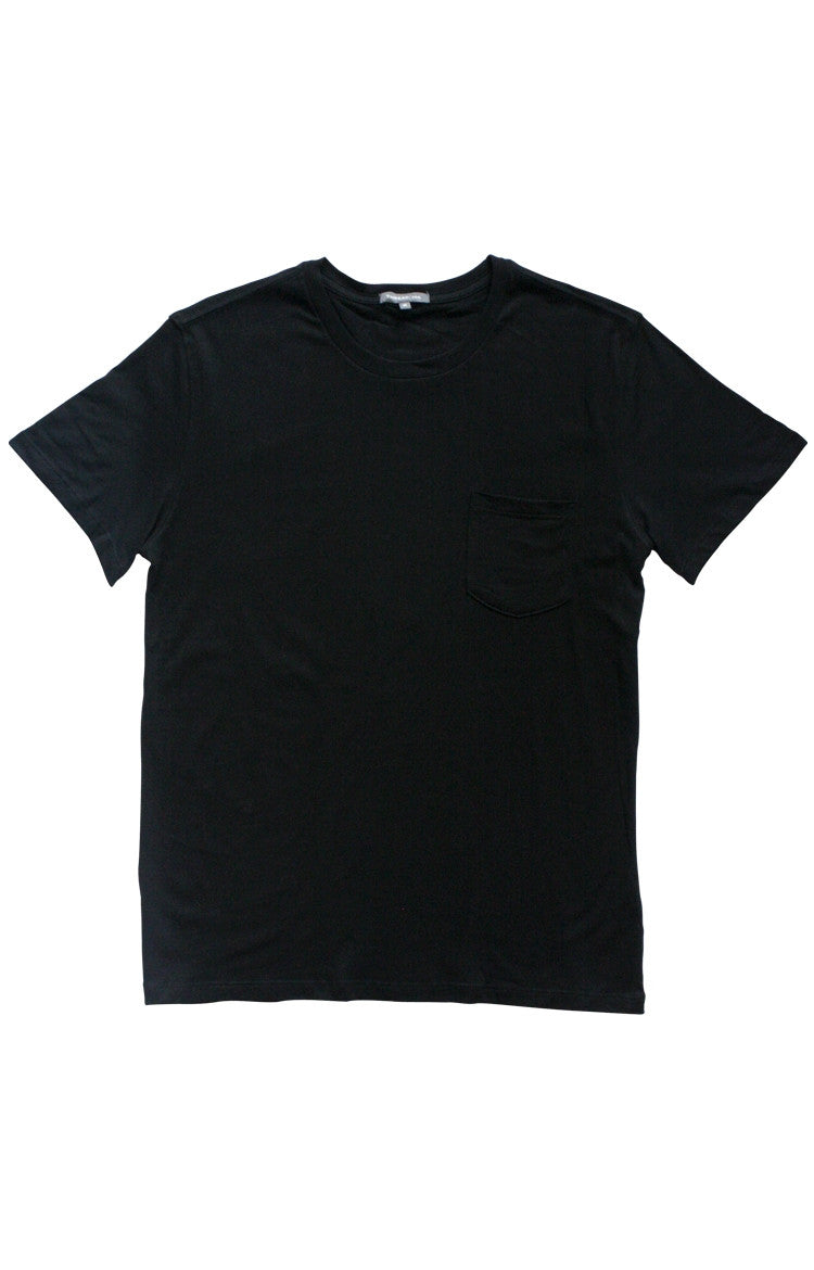 Thread 365 Men's S/S Pocket Crewneck Tee - Basic Black