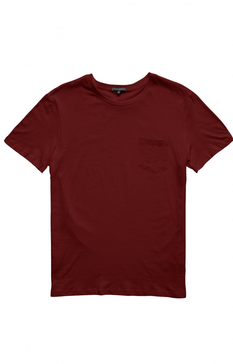 Thread 365 Men's S/S Pocket Crewneck Tee - Burgundy