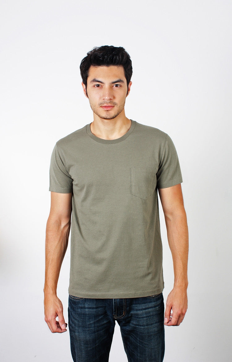 Men's S/S Pocket Crewneck Tee - Basic Black