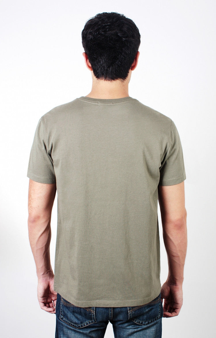 Men's S/S Pocket Crewneck Tee - Light Olive