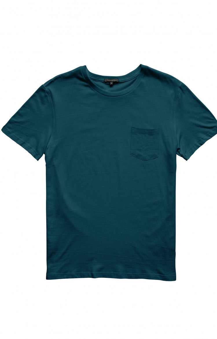 Thread 365 Men's S/S Pocket Crewneck Tee - Teal