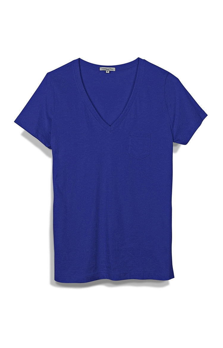 Thread 365 Women's Pocket V-Neck - Monaco Blue