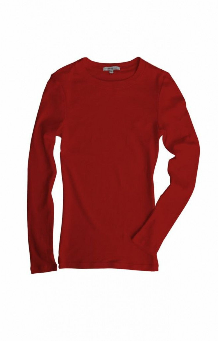 Thread 365 Women's L/S Crewneck Tee - Red