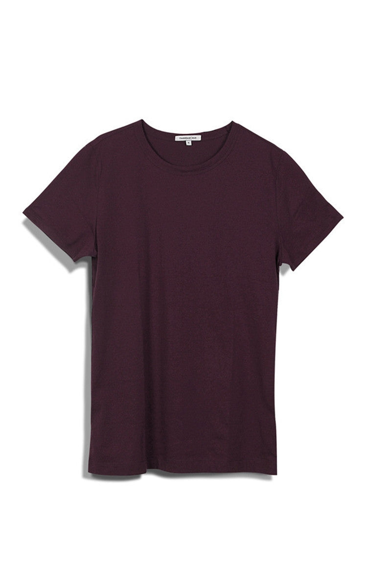 Thread 365 Women's SS Holiday Crew - Dark Wine