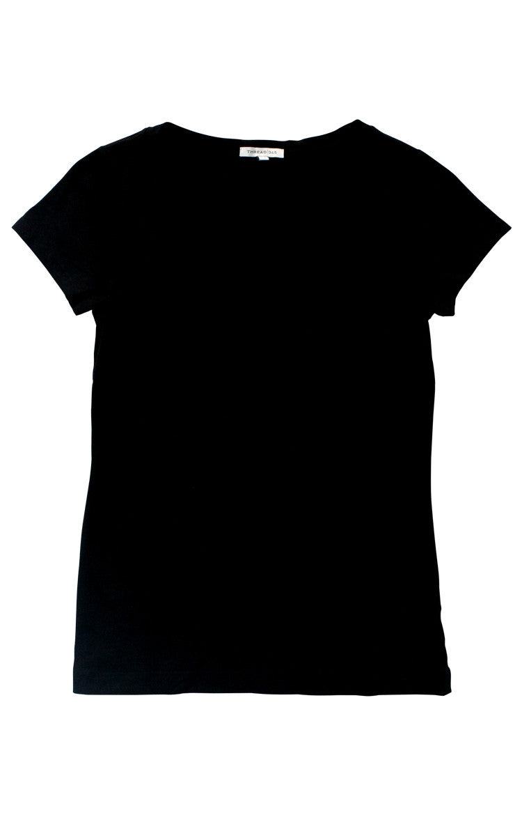 Thread 365 Women's S/S V-Neck Tee - Basic Black