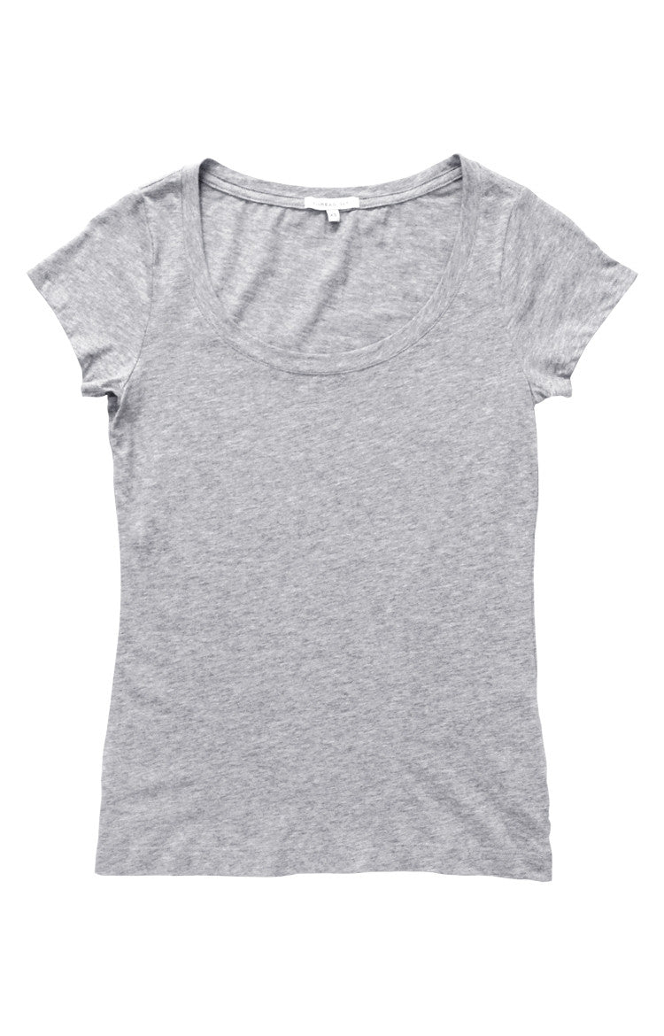 Thread 365 Women's S/S Scoopneck Tee - Heather Grey