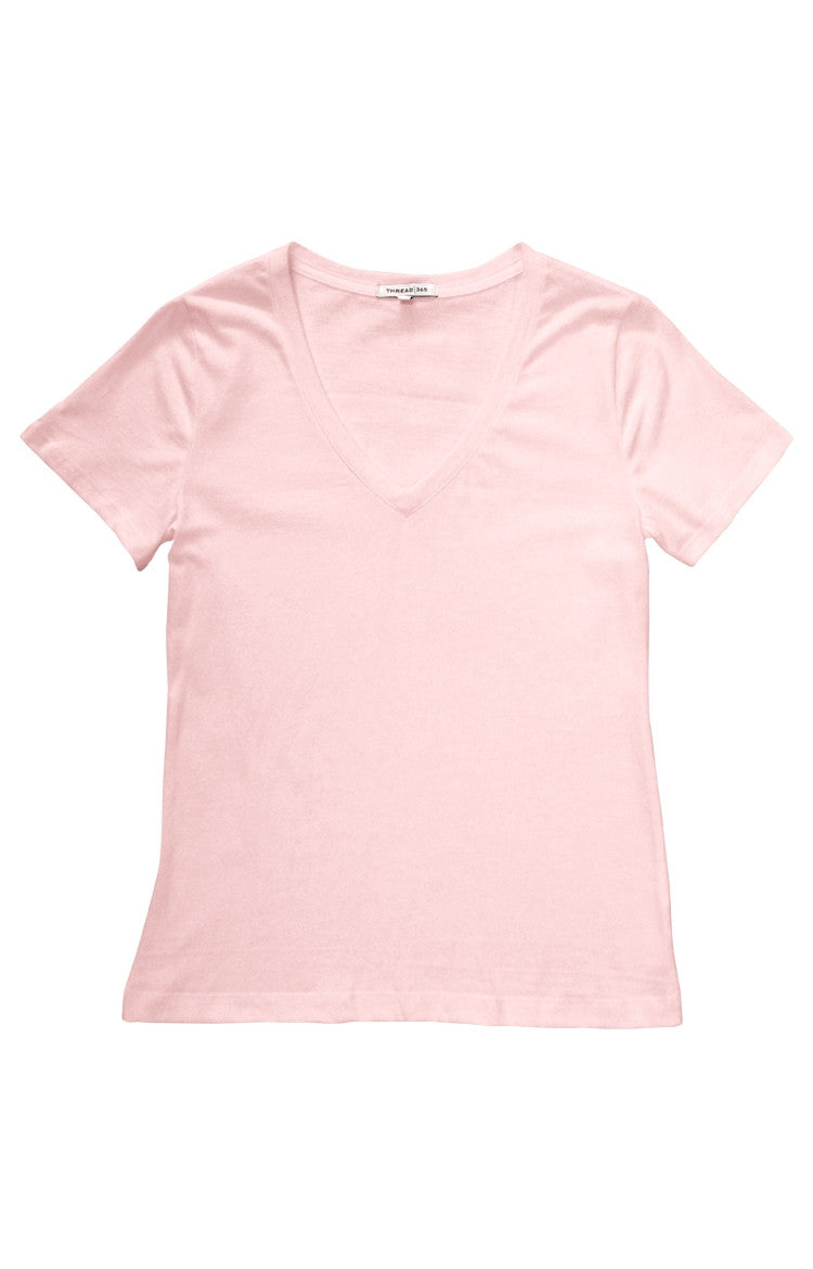 Thread 365 Women's S/S V-Neck Tee - Blush