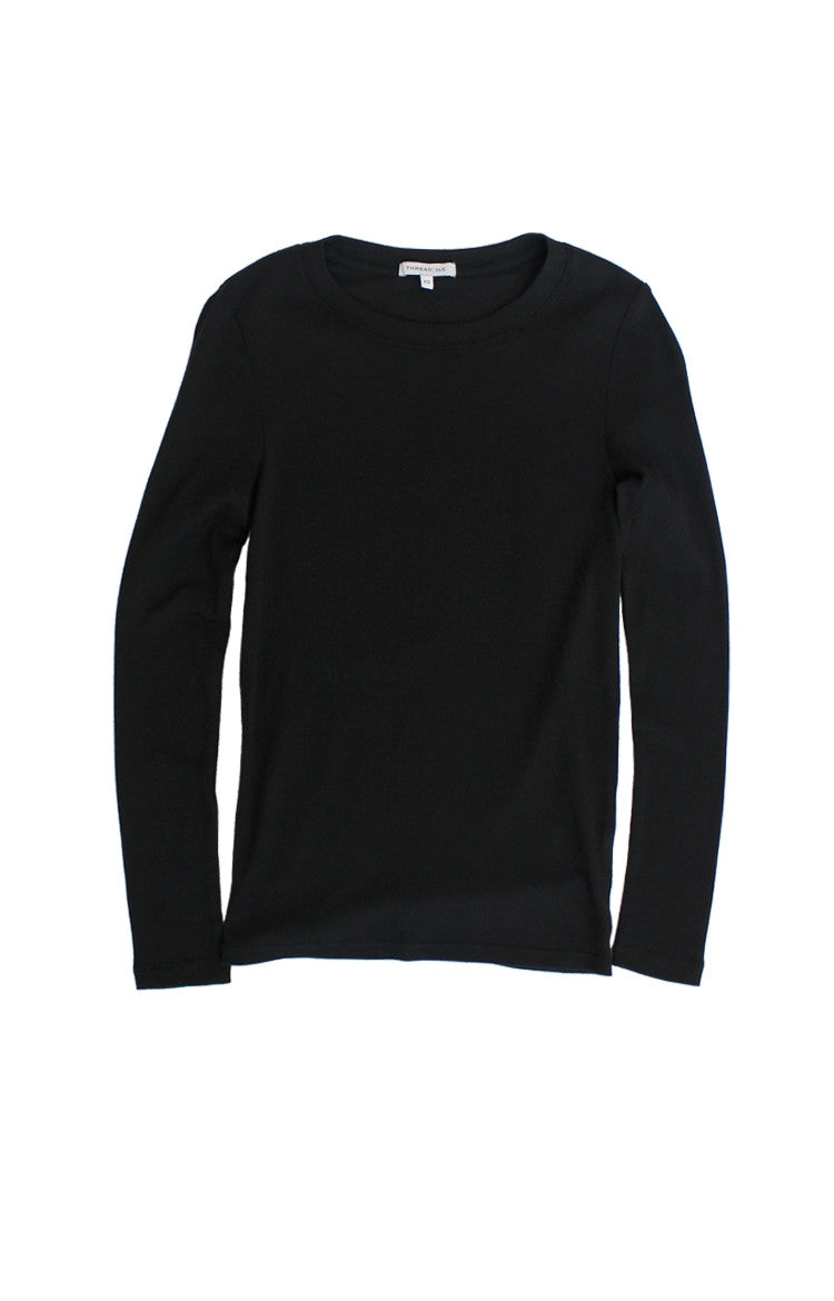 Thread 365 Women's L/S Crewneck Tee - Basic Black