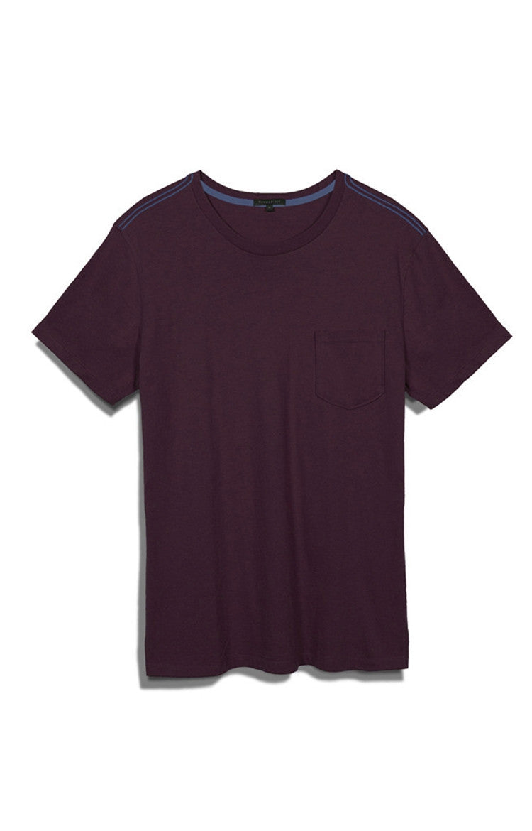 Men's Holiday S/S Pocket Crewneck Tee - Dark Wine