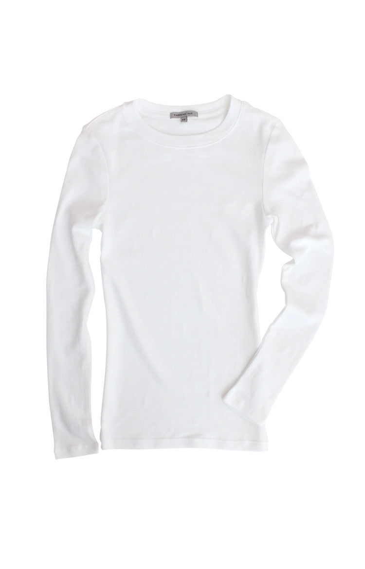 Thread 365 Women's L/S Crewneck Tee - White