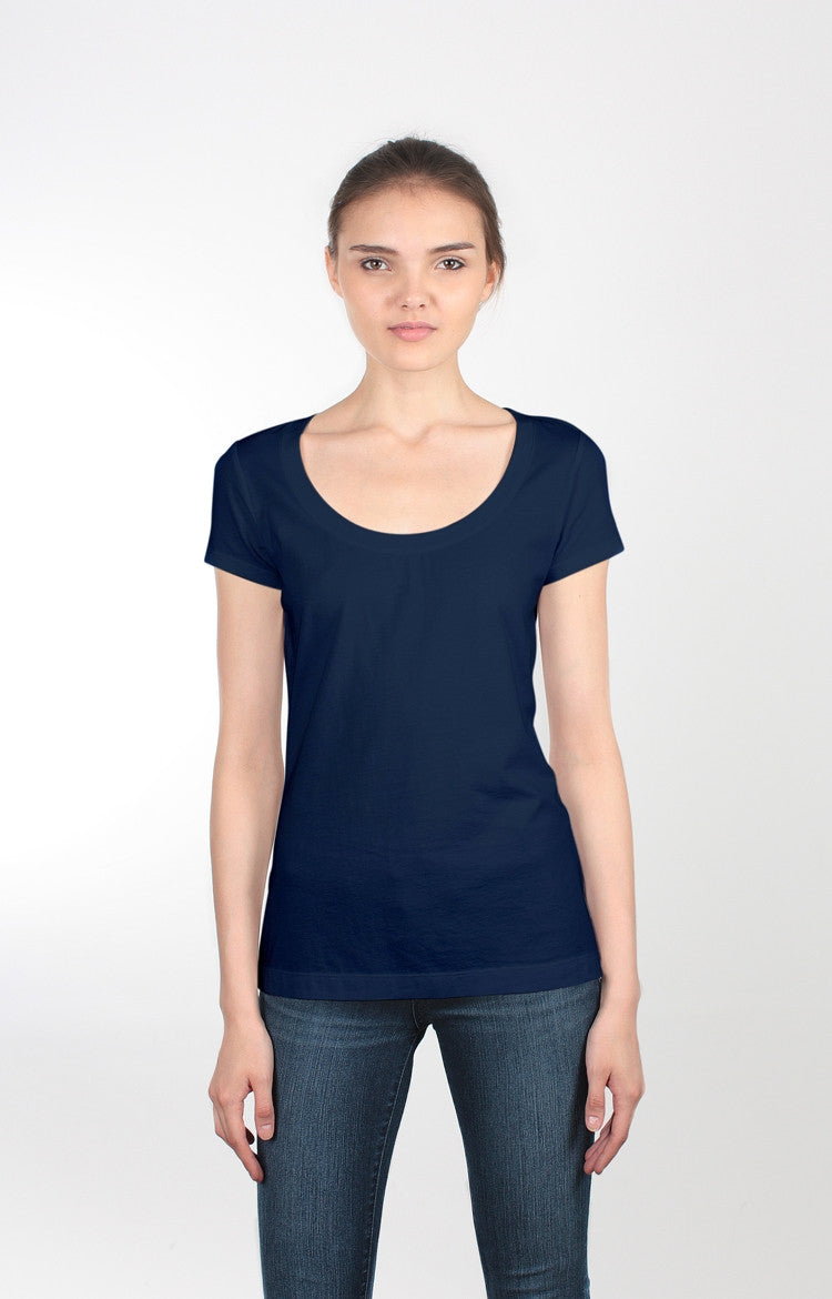 Women's S/S V-Neck Tee - Basic Black