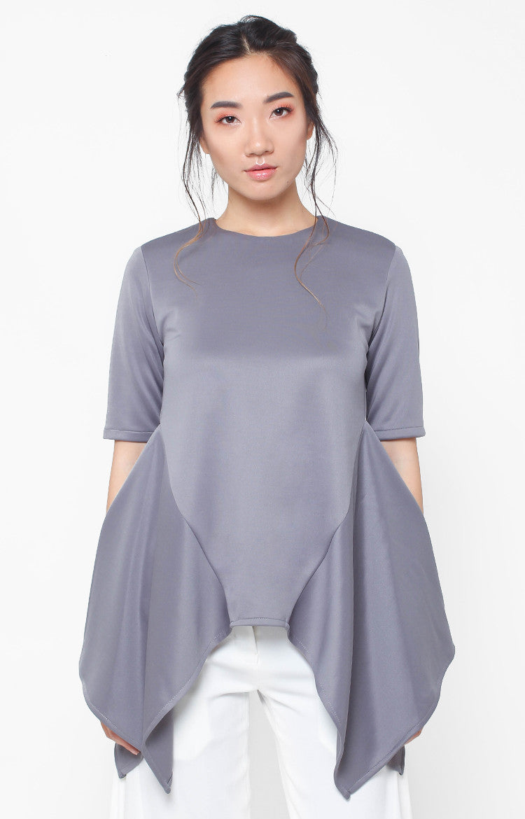 Arabella Top- Gray