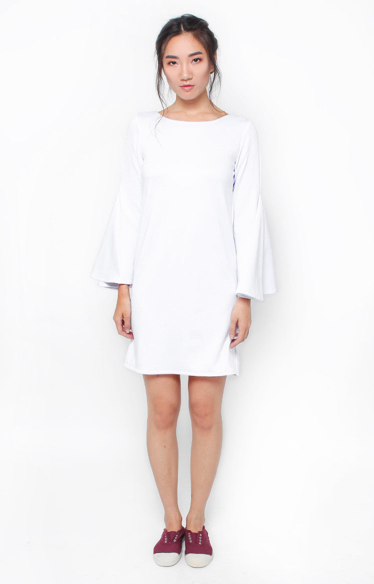 Victoria Shift Dress- White