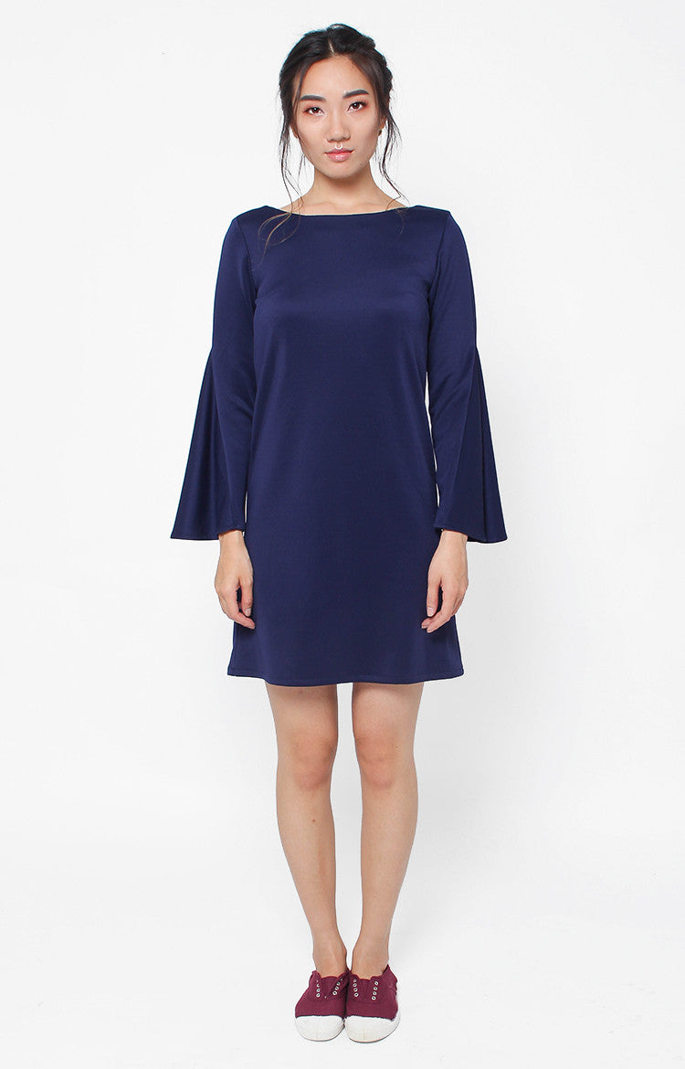Victoria Shift Dress- Navy