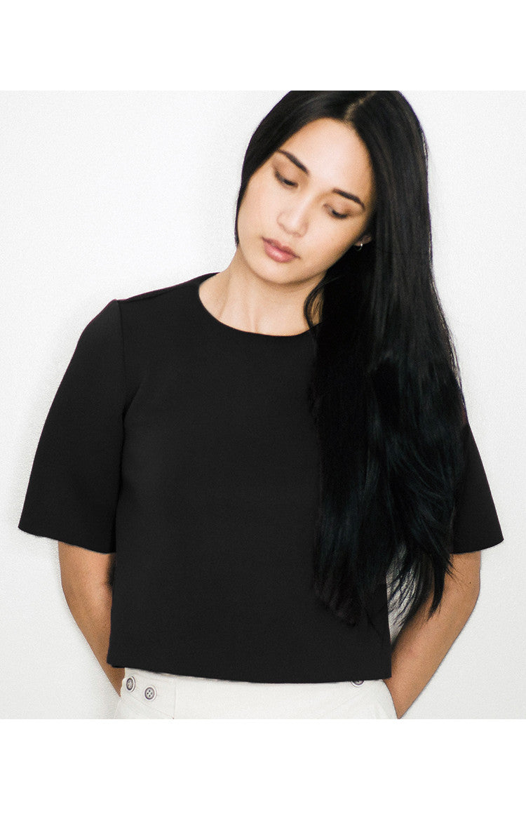 UNDO Clothing Vedetta Top in Black
