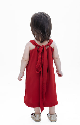 Kids Juliet Dress- Red