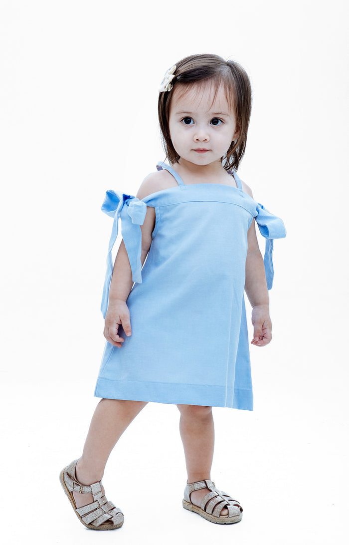 Kids Daniella Dress- Light Blue