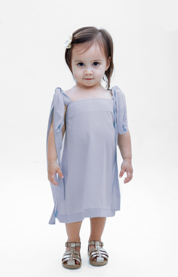 Kids Isabella Dress- Gray