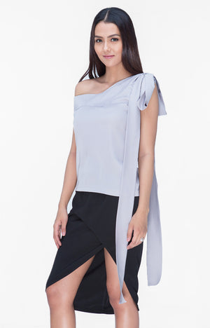 Audrina Top- Gray