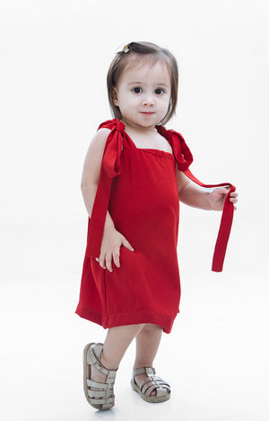 Kids Isabella Dress- Red