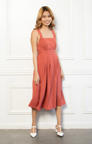 Charlotte Dress in Rust