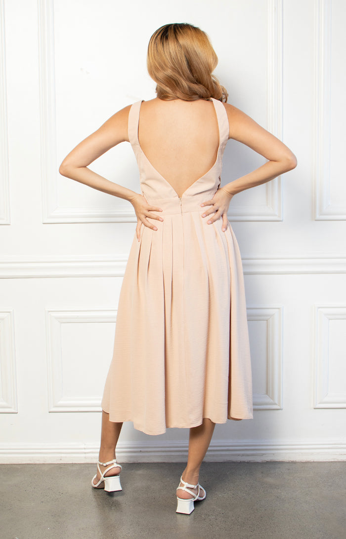 Charlotte Dress in Beige