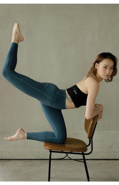 Breathe Easy High-Rise Performance Tights in Deep Teal