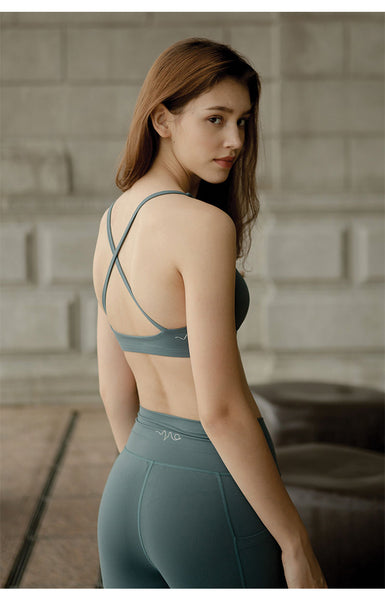 Break Free Performance Sports Bra in Sea Moss