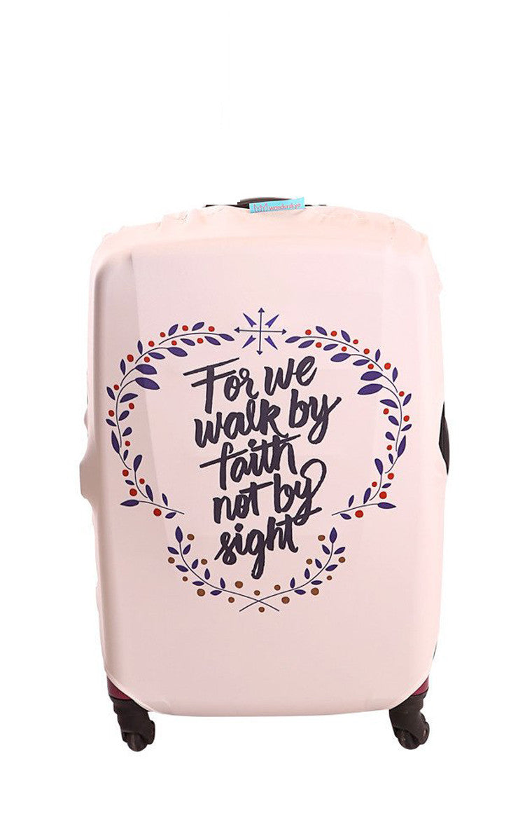 Faith Text Luggage Cover