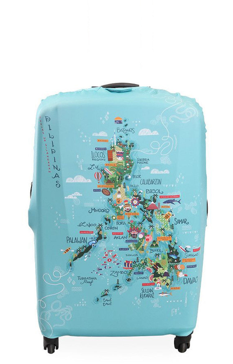 Map of the Philippines Luggage Cover