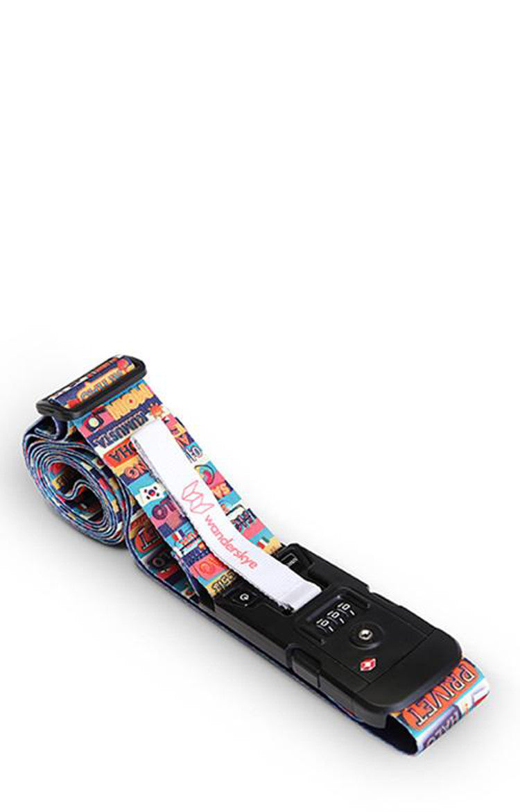 Hello in All Languages Luggage Strap with Digital Weighing Scale