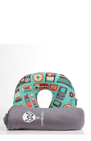 Retro Neck Pillow with Blanket