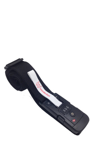 Plain Black Luggage Strap with Digital Weighing Scale