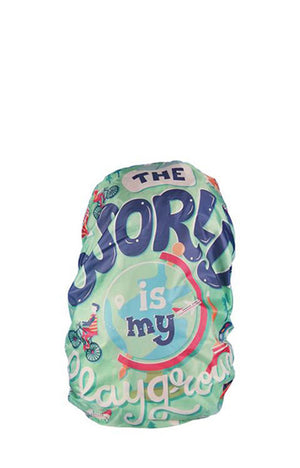 World is my Playground Backpack Cover