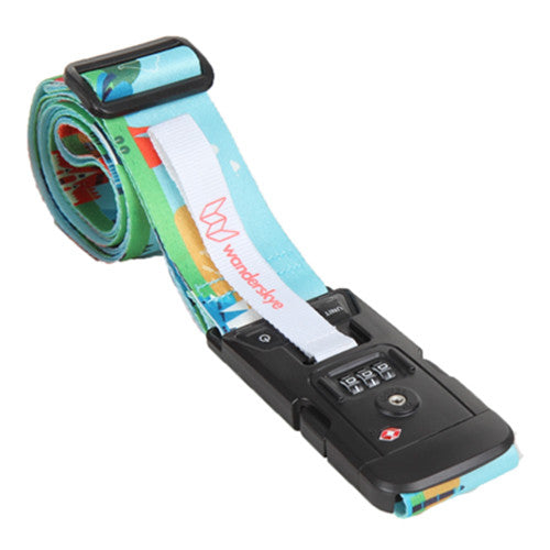 World Landmarks Luggage Strap with Digital Weighing Scale