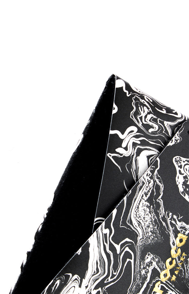 Card Sleeve - Black Marble