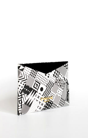 Card Sleeve - Black Monogeometric