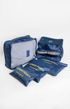 Travel Organizer Set of 6 in Dark Blue