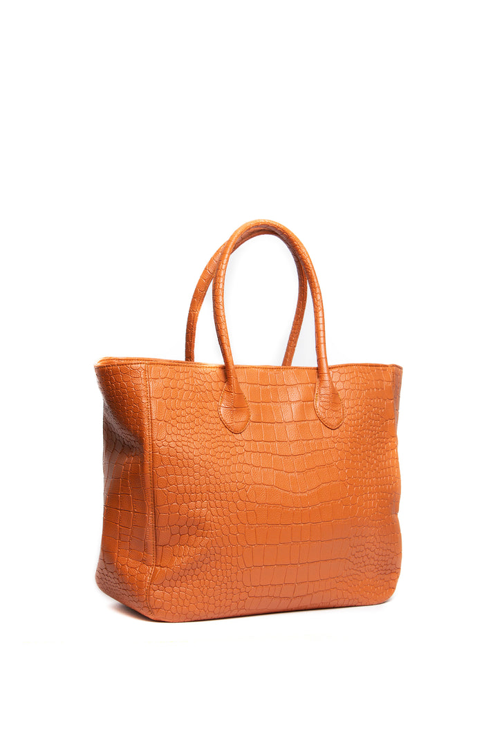 Bea Tote Bag in Orange