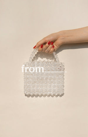 Mini Evening Bag in Ice Drops