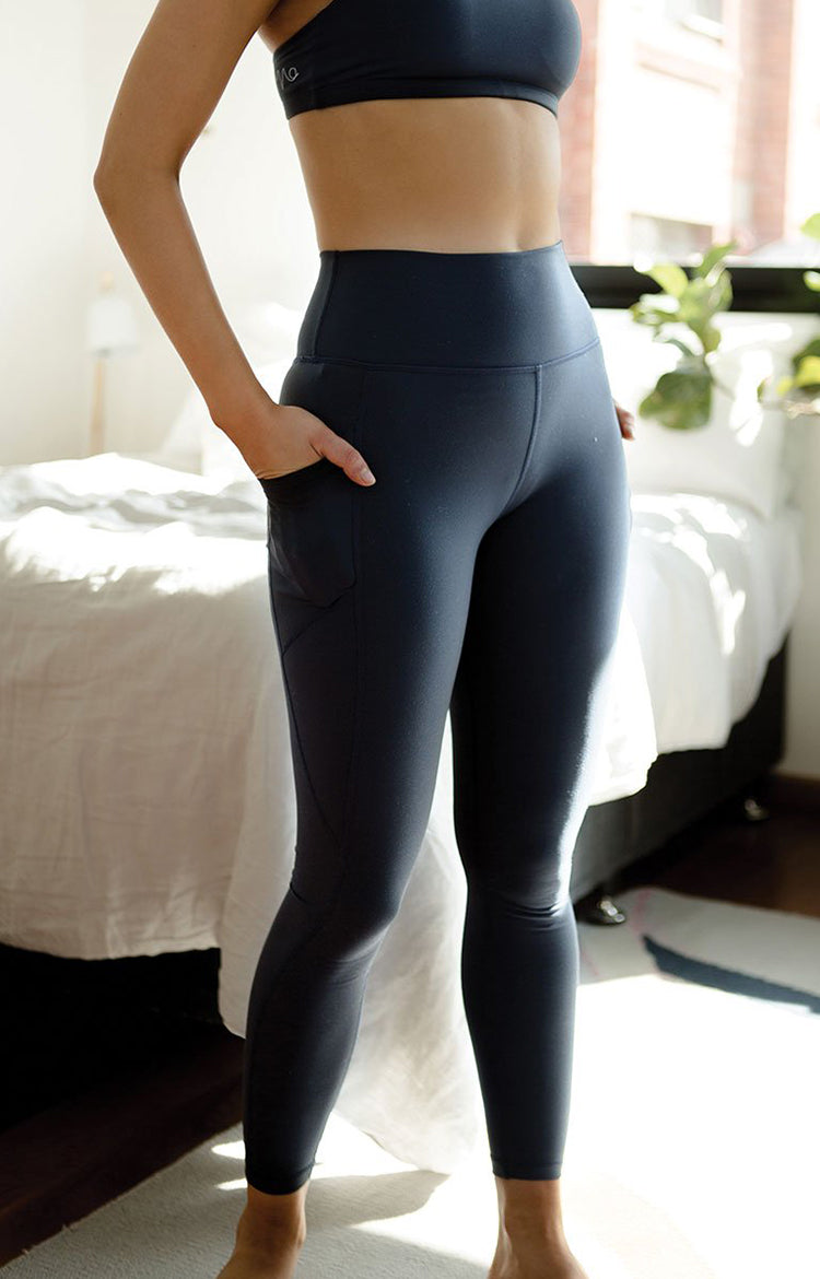 Radiate High-Rise Performance Tights in Dark Sapphire